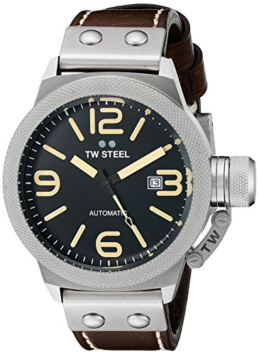 TW Steel Men's CS35 Analog Display Quartz Brown Watch