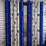 Honey Traders 1 Piece Eyelet Polyster Door Curtain - 7ft, Blue