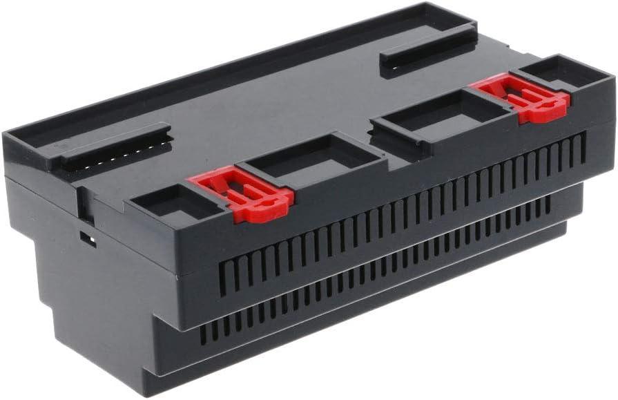 LANDUM 158x88x59mm Bo/îtier en Plastique ABS /Électronique Industriel Projet de Rail Rail Bo/îte de jonction Case