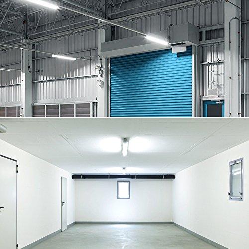 Best Rated Led Shop Lights: Luxrite 2FT Slim Linear LED Shop Light Fixture, 17W, 3000K