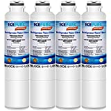 ICEPURE Refrigerator Water Filter, Compatible with Samsung DA29-00020B, DA29-00020A, HAF-CIN/EXP, HAF-CIN, DA97-08006A, Kenmore 469101 [Pack of 4]