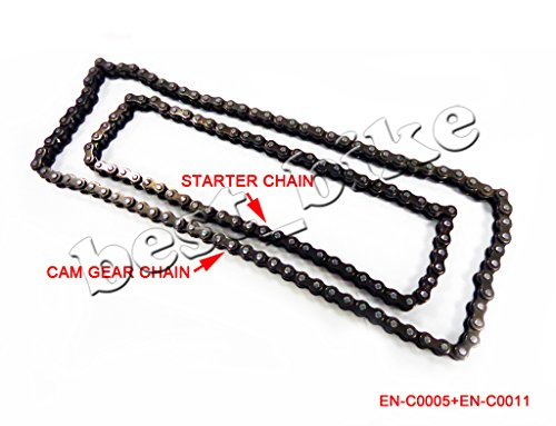 62 Link Starter Chain and 84 Link Cam Timing Chain Set for 50cc 70cc 90cc 100cc 110cc 125cc ATV Scooter Dirt Bike Taotao SunL Peace JCL Baja