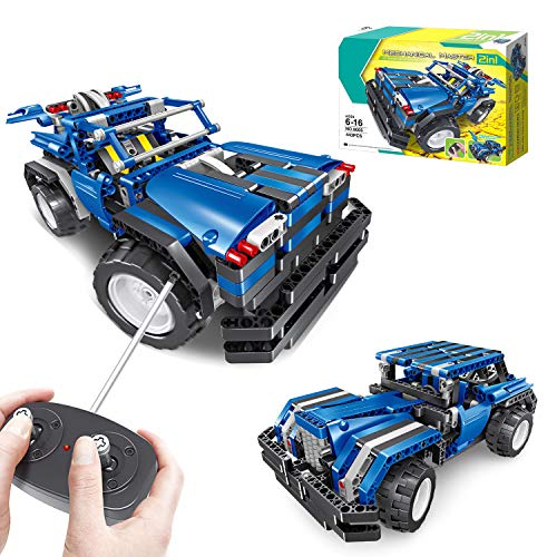 MONILON STEM Engineering Toys, DIY Remote Control Car 2 in 1, Creative 443 Pieces Educational Building Blocks Gifts Toy for Kids Boys Girls Ages 6 - 16 Years Old