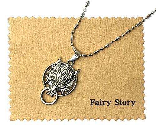 【Fairy Story】 ファイナルファンタジーVII クラウディウルフ クラウド モチーフ コスプレ ネックレス FINAL FANTASY VII 【クロス&箱あり】