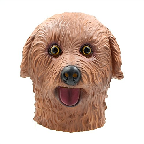 QTMY Latex Rubber Animal Mask Halloween Party Costume (Teddy Dog)