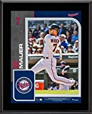 "Joe Mauer Minnesota Twins 10.5"" X 13"" Sublimated Player Plaque - MLB Player Plaques and Collages"