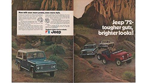 Magazine Print Ad: 1972 Jeep Commando, Wagoneer, Truck,