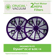 2 Dyson DC07, DC14 Purple Post-Motor HEPA Filters; Replaces Dyson DC-07, DC-14 Vacuum Part # 901420-02; Designed & Engineered By Crucial Vacuum