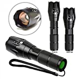 Britenova Professional LED Flashlight 5 Mode Zoomable + 3 Modes Of Flashing Torch- Works On 3 AAA Or 1 Rechargeable Battery Type 18650 (Not Included)