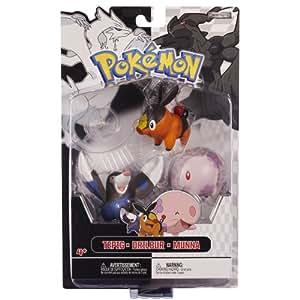 Jakks Pacific - Pack Figurines - Pokémon Tepig - Munna - Drilbur - 0039897279930
