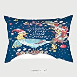Custom Satin Pillowcase Protector New Year Vector Card With The Cute Rooster The Decorations Pillow Case Covers Decorative