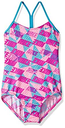 Amazon.com: Nike Big Girls' Racerback One Piece Swimsuit
