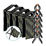 Neewer 4-pack Photography Sandbag (Black/Army Green, Empty) and 6-pack 4.3 inches/11 centimeters Muslin Backdrop Spring Clamps Clips for Light Stands, Tripods and Other Lighting Accessories