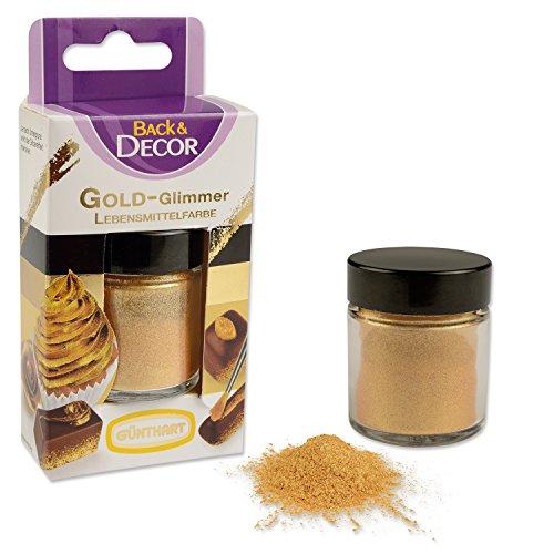 Günthart - Back&Decor Gold-Glimmer Lebensmittelfarbe - 7g