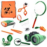 Outdoor Kit Toys for Kids - Set of 12 Adventure Kid Camping Exploration Toys, Outdoor Explorer Kit for Kids, Camping Toys for Kids, Nature STEM Education for Children, Boys Birthday Gifts, Gift Boxed.