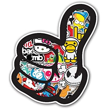 Adelia Co Like Thumb Sticker Bomb Decal Series - Cartoon Graffiti Car Wrap Laptop JDM Skateboard Snowboard Vinyl iPad Macbook (Sticker Bomb 1)