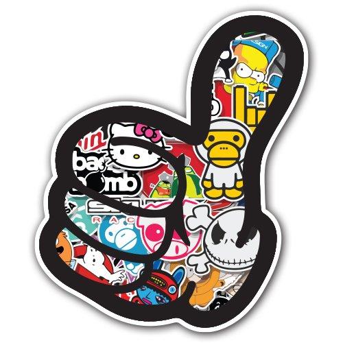 新しいスタイル [ Adelia Co in ] – Like親指ステッカー爆弾Decalシリーズ – Cartoon cm) Graffiti車ラップラップトップJDMスケートボードスノーボードVinyl iPad Macbook 4.7 in x 5.5 in (12 cm x 14 cm) LIKETHUMB Sticker Bomb 1 B012JLXTF0, 椎葉村:4a86e356 --- a0267596.xsph.ru