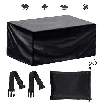 Anpro Nouvel Design Housse Protection 200x160x70cm avec 2pcs Scratchs  Ajustable Bâche Housse Salon de Jardin Imperméable Anti-poussière  Antisolaire ...