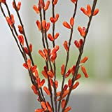 Factory Direct Craft Group of 12 Harvest Orange Pip Berry Embellishing Sprays