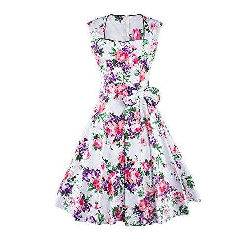 Frauen-Abschlussball-formales Abend-Kleid-Spitze-langer runder Ansatz Sleeveless Maxi Furcal Polyester-Nagel-Bohrungs-Frühlings-Sommer