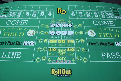 Deluxe Craps Premium Rubber Table Layout - Includes Bonus Deck of Cards! by Rollout