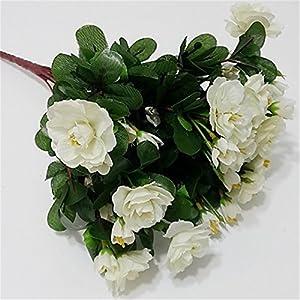 JJH 1 Branch Silk Azalea Tabletop Flower Artificial Flowers 3