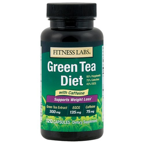 Fitness Labs Green Tea Diet 135mg EGCG, 75mg Caffeine, 120 Capsules