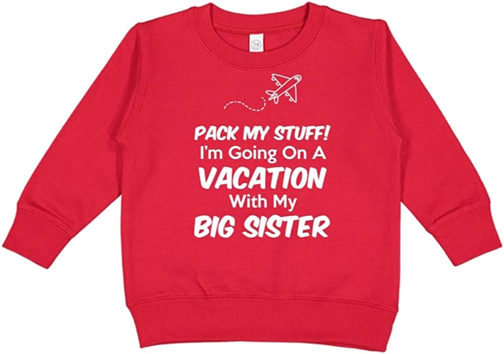 Pack My Stuff Im Going On Vacation with My Big Sister Toddler//Kids Sweatshirt