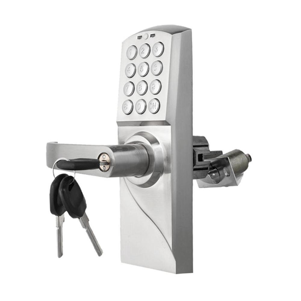 Cerradura de Puerta de código electrónico Inteligente Teclado numérico Digital contraseña, Tarjeta de RF, Llave única de Acero Inoxidable pestillo, ...