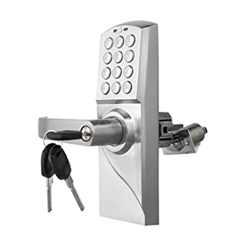 Electronic Code Door Lock Smart Digital Keypad Password ,RF Card, Key Stainless Steel Single
