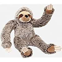 Fluff and Tuff Tico Sloth Plush Dog Toy, Large, 15-Inches