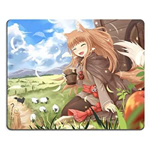 Spice And Wolf Kraft Lawrence Holo Mouse pads Anime Game Manga Comic ACG Customized Made to Order Support Ready 9 7/8 inch (250mm) x 7 7/8 inch (200mm) x 1/16 inch (2mm) High Quality Eco friendly Cloth with Neoprene rubber woocoo mouse pad desktop mousepad laptop mousepads comfortable computer mouse mat cute gaming mouse_pad