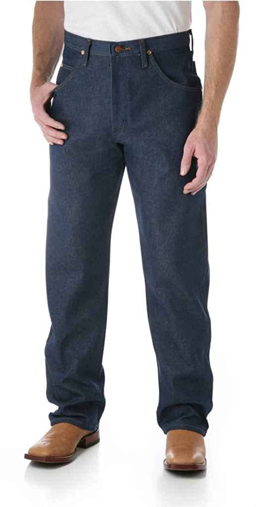 Rigid Indigo Wrangler Mens Cowboy Cut Relaxed Fit Jeans W36 L34