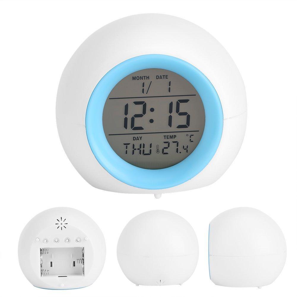 Cuisine U0026 Maison 7 LED Couleurs Réveil Numérique Réveil Horloge Digital  Silencieux Lumière Avec Thermomètre Rétro Éclairage Changement De ...