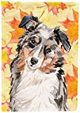 Caroline's Treasures BB9502GF Australian Shepherd Fall Decorative Garden Flag, Multicolor