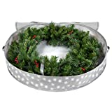 Christmas Wreath Storage Bag - Xmas Holiday Wreath Storage Container -Snowflake Design - Protects Against Dust, Moisture, and Damage - 36 inch - Durable 600D Material