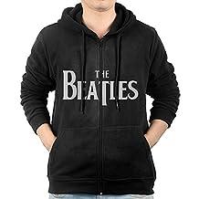Men's Long Sleeve Zip Up Hoodie Sweatshirt With Pockets Hey Beatles Yesterday