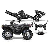 Reaper-AMRRACING Quad Graphics decal kit fits Polaris ATV Sportsman 400,500,800 (2005-2010)-Black