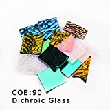 3bags COE90 Dichroic Glass Mix Color and Shapes