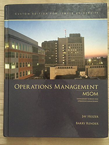 Operations Management (Custom Edition for Temple University, MSOM) [Hard Cover]