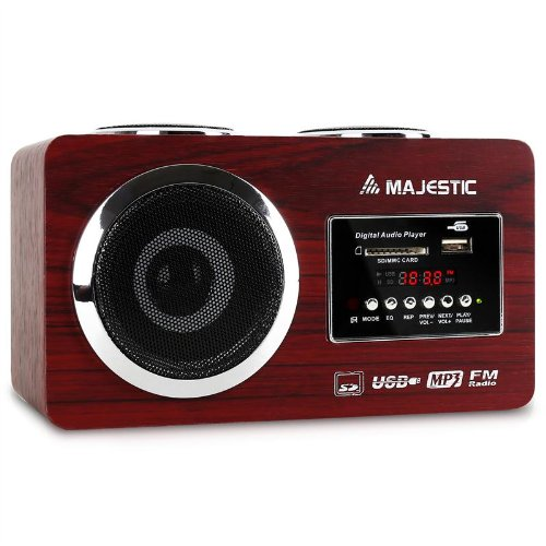 8 opinioni per Majestic AH 173 Boombox stereo radio portatile (ingressi USB SD MP3, runer FM,
