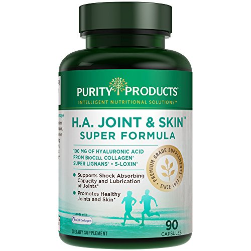 H.A. Joint and Skin Super Formula - Hyaluronic Acid | Purity Products | Supports Healthy Joint Flexibility, Healthy Synovial Fluid, and Joint Lubrication* | Now with 5-Loxin | 90 capsules (1)