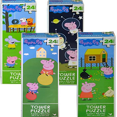 (Cardinal Peppa Pig Tower Puzzle 24)