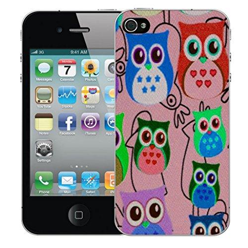 Mobile Case Mate iPhone 4 4s Concepteur Dur IMD coque Affaire Couverture Case Cover Pare-chocs Coquille - Multi Owls Modèle