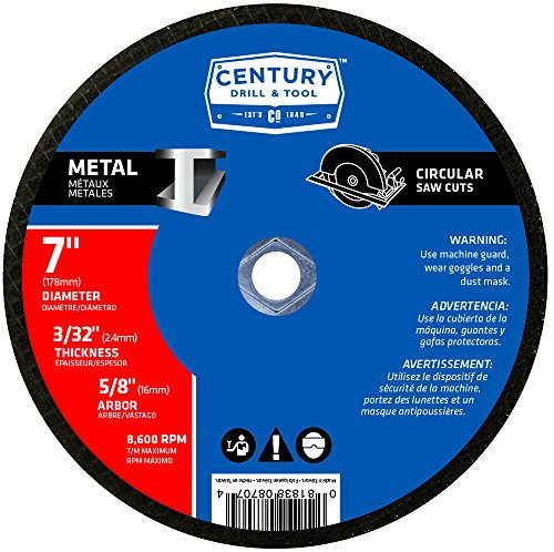 Century Drill and Tool 8707 Metal Abrasive Blade, 7-Inch