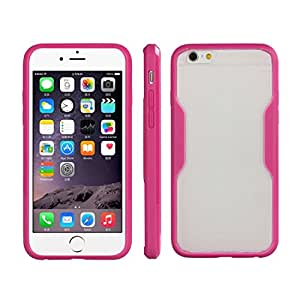 Changeshopping(TM)Elegant Silicone + PC Shockproof Protection Case Cover for iPhone 6 4.7 Inch (Hot pink)