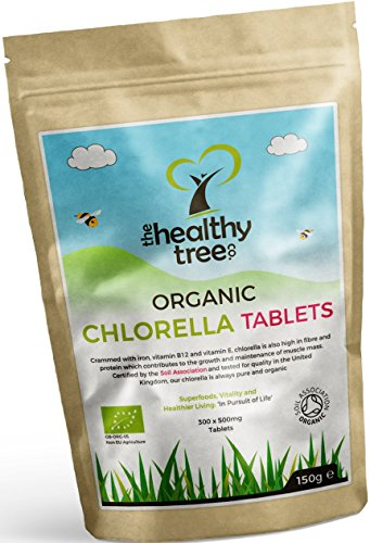 Organic Chlorella Tablets - High in Chlorophyll, Protein, Iron and Amino...