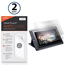 Wacom Cintiq 13HD DTK-1300 Screen Protector, BoxWave® [ClearTouch Anti-Glare (2-Pack)] Anti-Fingerprint Matte Film Skin for Wacom Cintiq 13HD DTK-1300, 13HD Touch DTH-1300 | Cintiq Companion 2 DTH-W1310