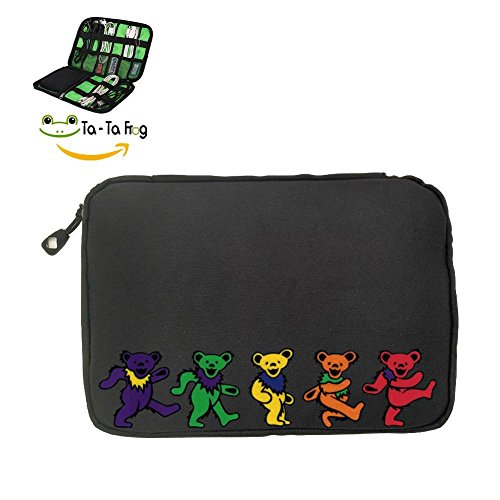 Dancing Bears Fashion 3D Printing Electronics Accessories Organizer Bag,Portable Tech Gear Phone Accessories Storage Carrying Travel Case bag, Headphone Earphone Cable Organizer ()