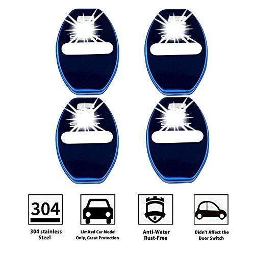 LFOTPP Seat001 Cubierta de la cerradura de la puerta del coche de acero inoxidable Protección interior Accesorios Cubierta de la cerradura de la puerta ...